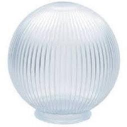 Clear Acrylic Prismatic 8 Inch Lamp Post Globe with 3.91 Inc