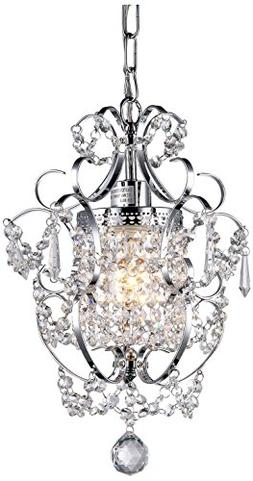 12 in. Clear Crystal Chandelier