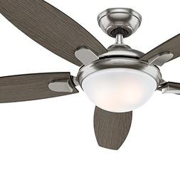 Hunter Fan 54 inch Contemporary Ceiling Fan in Brushed Nicke