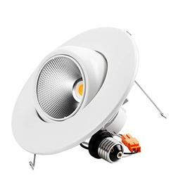 TORCHSTAR High CRI90+ 6inch Dimmable Gimbal Recessed LED Dow