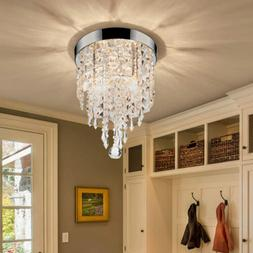 crystal chandelier flush mount ceiling light 2