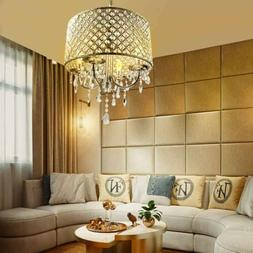 Crystal Chandelier Pendant Light, 4 Lights, with Crystal Bea