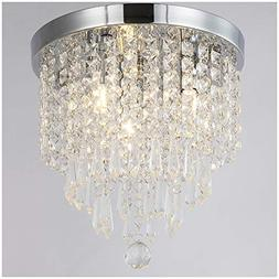 ZEEFO Crystal Chandeliers, Modern Pendant Flush Mount Ceilin