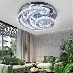 Crystal LED Ceiling Light Fixture Moon Chandelier Lighting M
