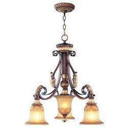 Dining Livex Lighting Villa Verona 3 Light Hallway Fixture C