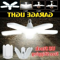 E27 LED Garage Light Bulb Deformable Ceiling Fixture Lights