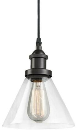 CLAXY Eco Industrial Mini Glass Pendant Black Hanging Light