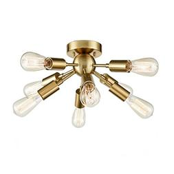 CLAXY Ecopower Antique Brass Sputnik Chandelier with 8 Socke