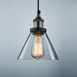 CLAXY Ecopower Antique Industrial Mini Glass Pendant Lightin