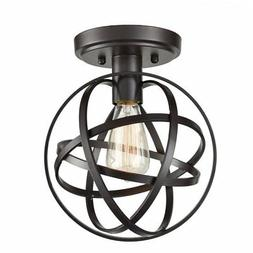 CLAXY Ecopower Antique Spherical Flush Mount Ceiling Light M