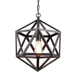 CLAXY Ecopower Industrial Polygon Pendant Light Metal Cage L