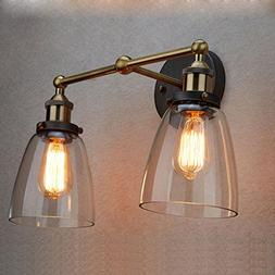 CLAXY Ecopower Simplicity Edison Vintage Glass Wall Sconce F