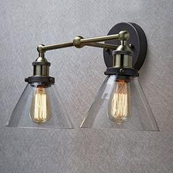 CLAXY Ecopower Simplicity Industrial Edison Antique Glass 2-