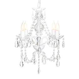 Best Choice Products Elegant Acrylic Crystal Chandelier Ceil