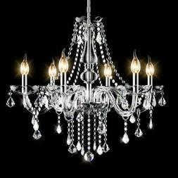 Elegant Crystal Chandelier Modern 6 Ceiling Light Lamp Penda