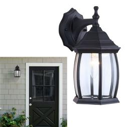 Outdoor Exterior Lantern Light Fixture Wall Mount Sconce, Te