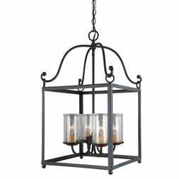 Feiss F2907/4AF Declaration Pendant Fixture, Antique Forged