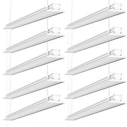 Sunco Lighting 10 Pack 4ft 48 Inch LED Flat Utility Shop Lig