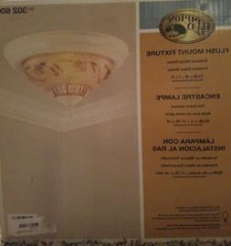 Hampton Bay Flush Mount 2-Light Fixture Frosted Glass Shade