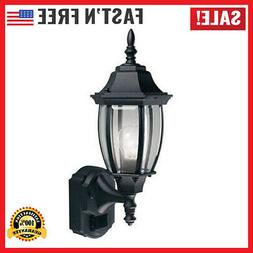 Outdoor Lantern Motion Sensor Glass Exterior Wall Light Fixt