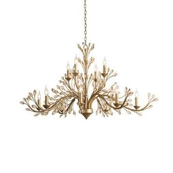 gold chandelier crystal light ceiling fixture curtain