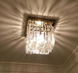 "Moooni Hallway Crystal Chandelier 1 - Light W8"" Mini Modern"