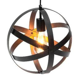 hanging metal spherical pendant chandelier lighting fixture