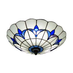 hl298682 tiffany style ceiling fixture flush mount