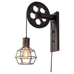BAYCHEER HL458423 1 Light Wall Sconce Keyed Socket Pulley LE
