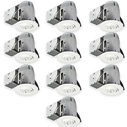 Globe Electric 90953 Swivel Recessed Lighting , White