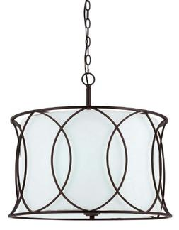 "Canarm ICH320A03ORB20 Monica 3-Light Chandelier, 20.5"" x 20."