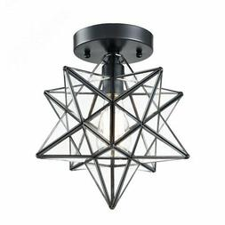 industrial black copper moravian star