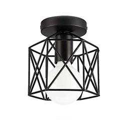 Industrial Ceiling Light, Licperron Edison Hanging Caged Pen