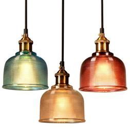 Industrial Glass Pendant Light Color Plating Ceiling Lamp Sh