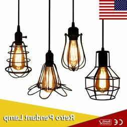 Industrial Metal Cage Pendant Vintage Ceiling Lampshade Fixt