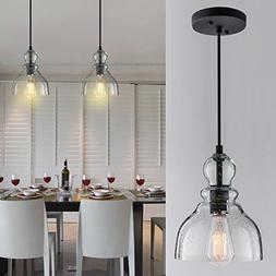 Lanros Industrial Mini Pendant Lighting with Handblown Clear
