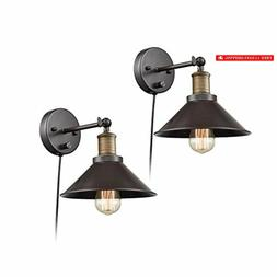CLAXY Industrial Swing Arm Wall Sconce Simplicity 1 Light Wa