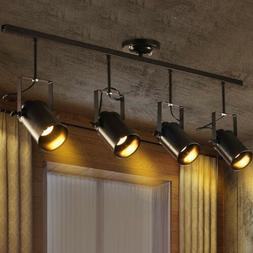 Industrial Vintage LED Track Lighting Kit Fixture Island Spo