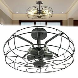Industrial Vintage Lighting Ceiling Chandelier 5 Lights Semi