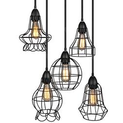 Industrial Vintage Lighting Ceiling Chandelier 5 Lights Meta
