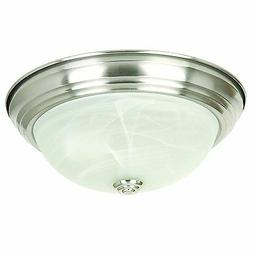 Yosemite Home Decor JK101-11SN 2-Light Flush Mount with Marb