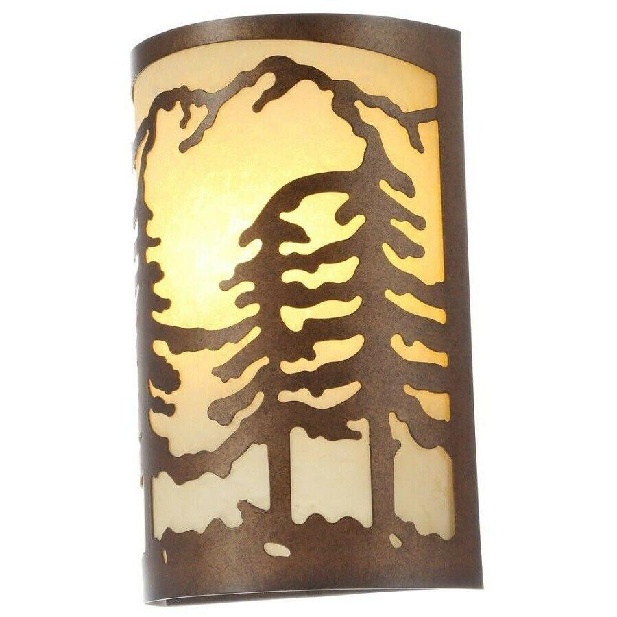 1 light natural antler wall sconce pine