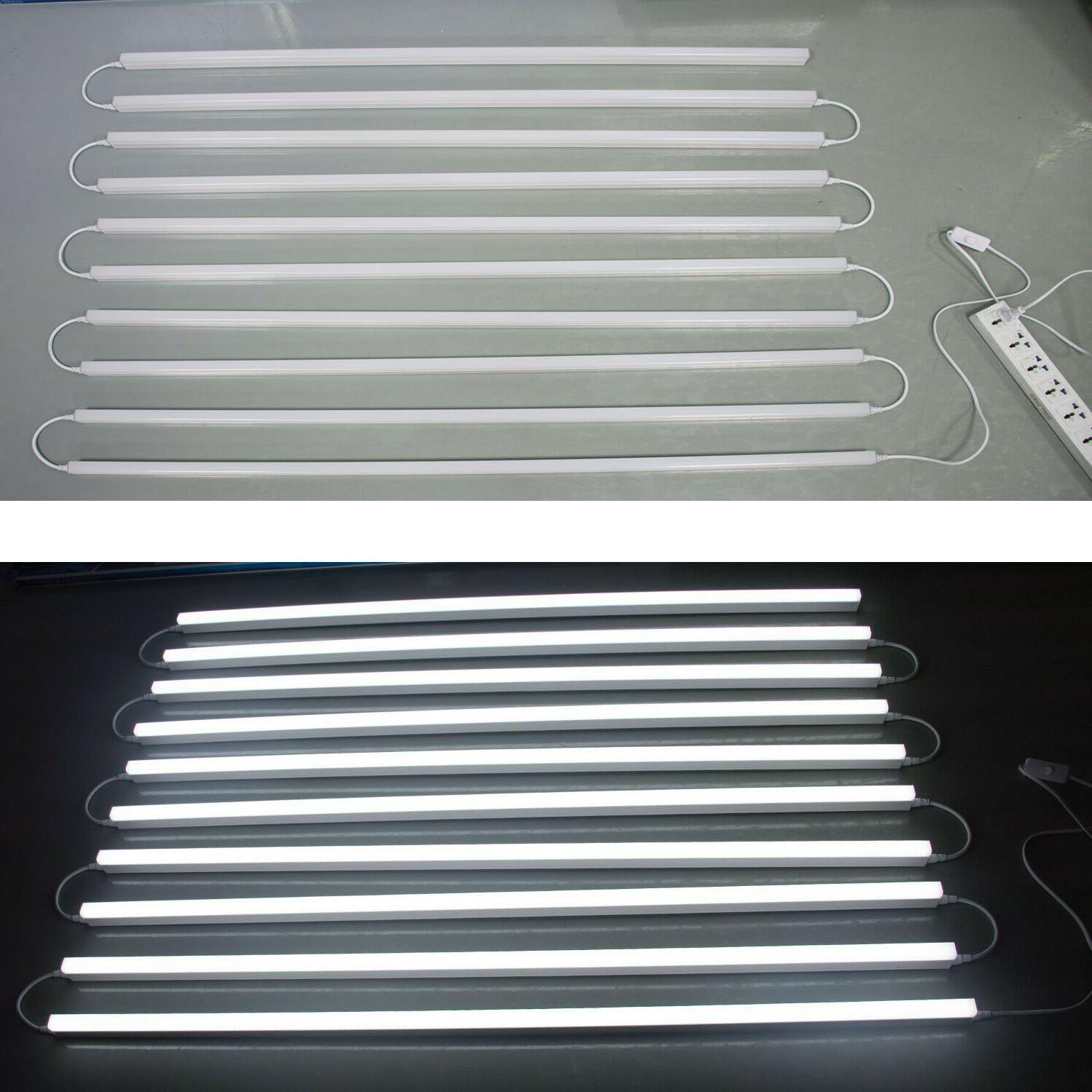 10 PACK Linkable LED Shop 6000K Daylight Utility Ceiling