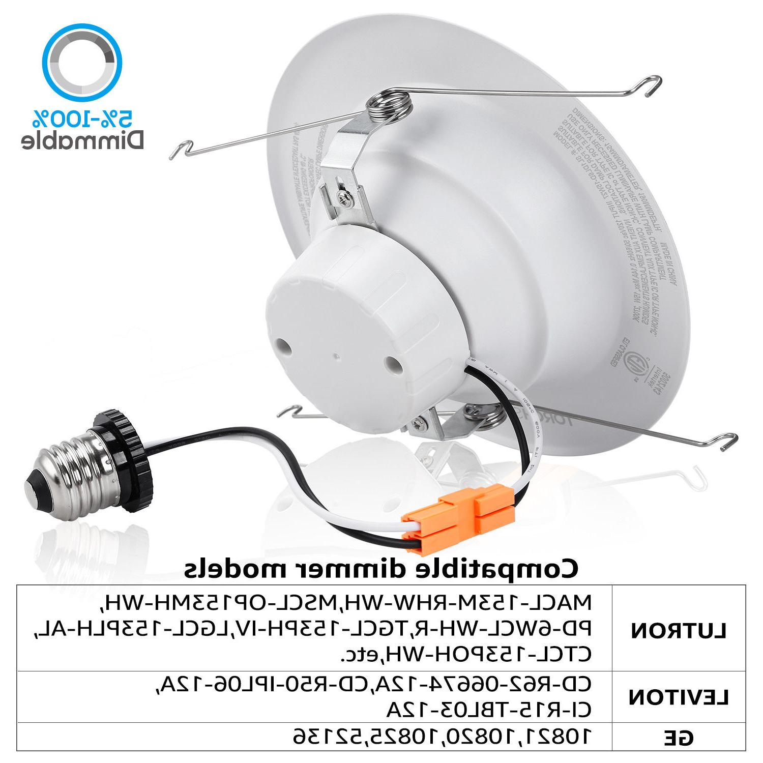 12 6 LED Ceiling 15W Dimmable Recessed 5000K