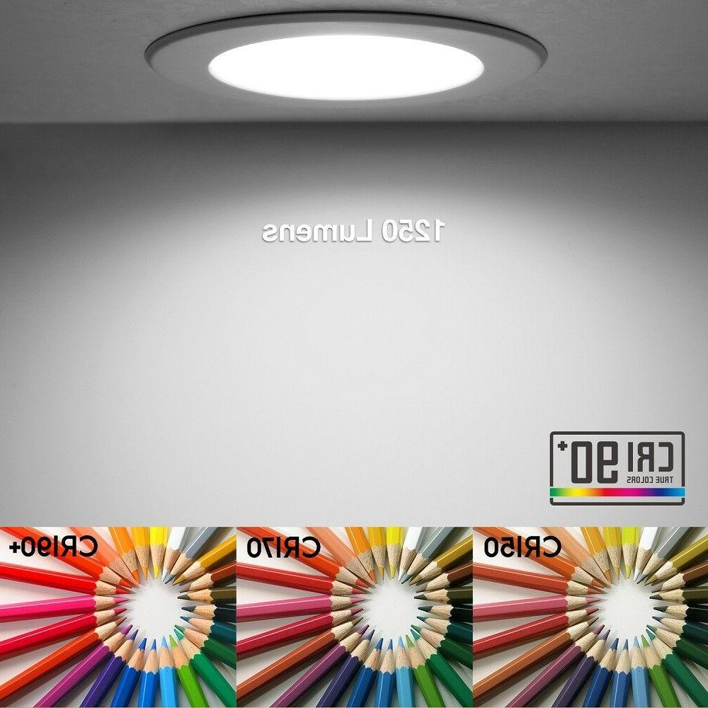 12 Pack LED Light 15W Dimmable Recessed 5000K