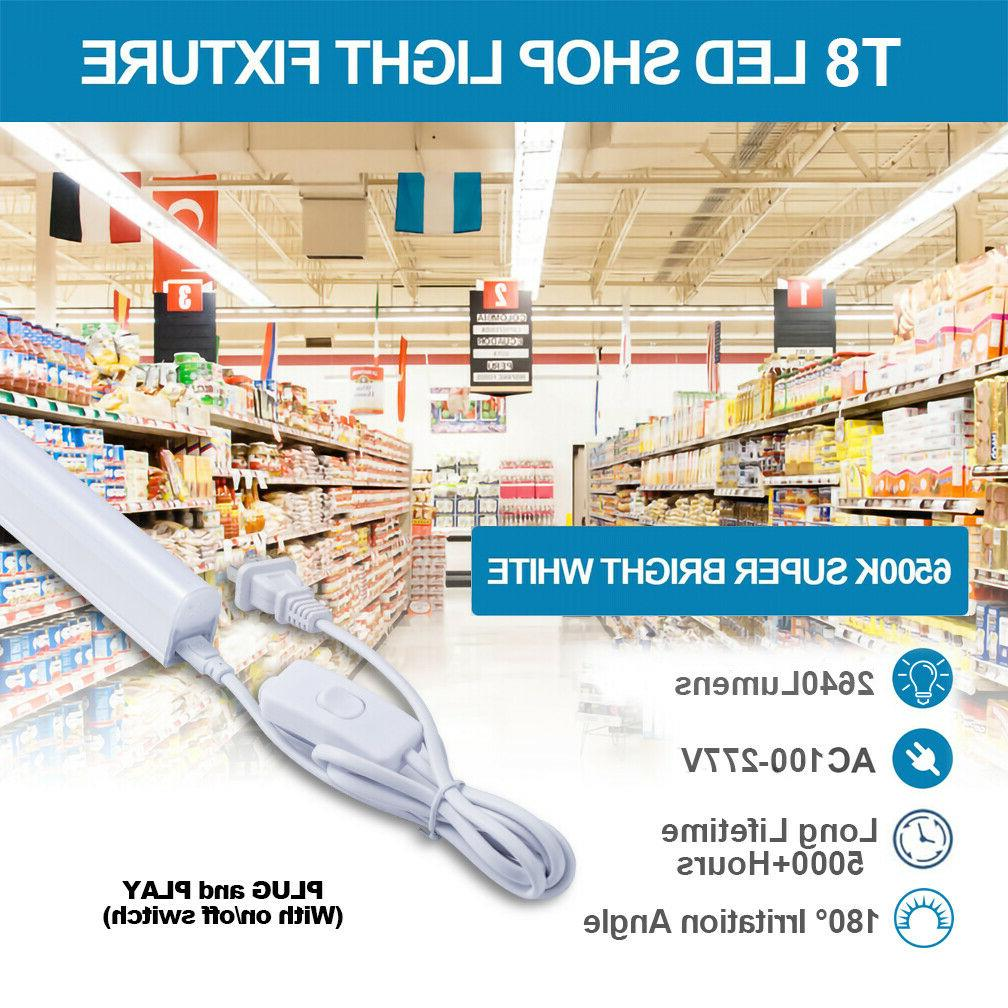 12 T8 4FT 24W Shop Linkable Tube Fixture Daylight