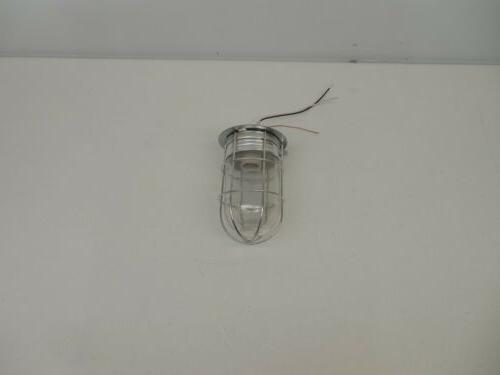 120 volt caged ceiling wall barn light
