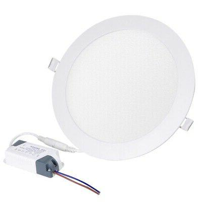 15w round led recessed ceiling panel fixture