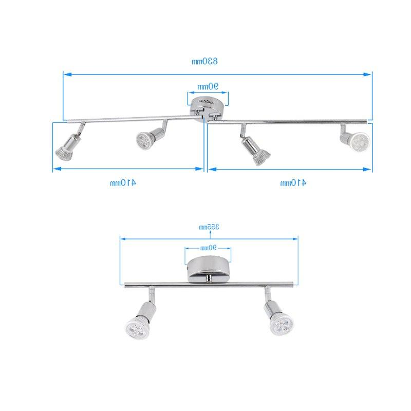 2/4 4W Rotatable LED Ceiling Spot Indoor <font><b>Lighting</b></font> <font><b>Fixture</b></font> Room Bedroom Stage