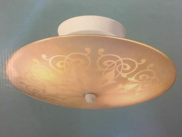 Hampton Bay 2-Light White Semi Flush Mount Ceiling Light Fix